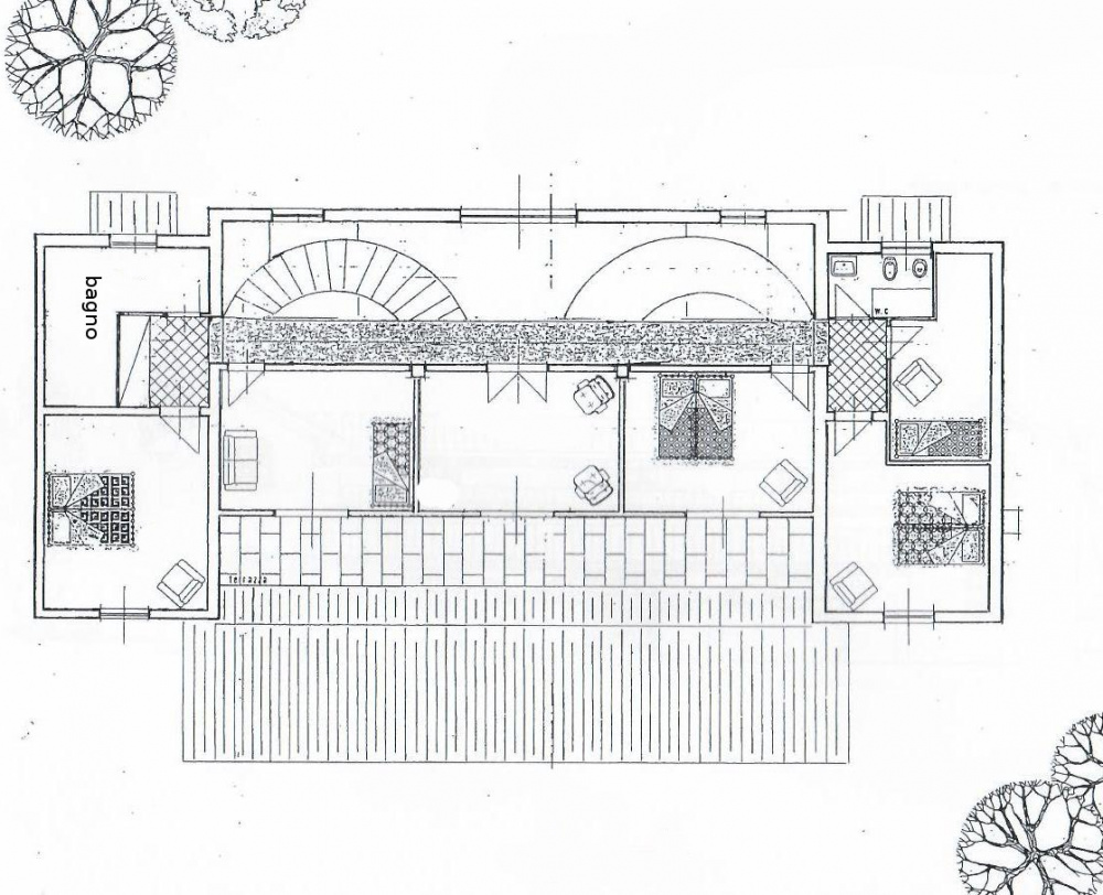 planimetria piano primo Villa libera su quattro lati con Parco Privato e vista Mare in vendita a Valle Benedetta