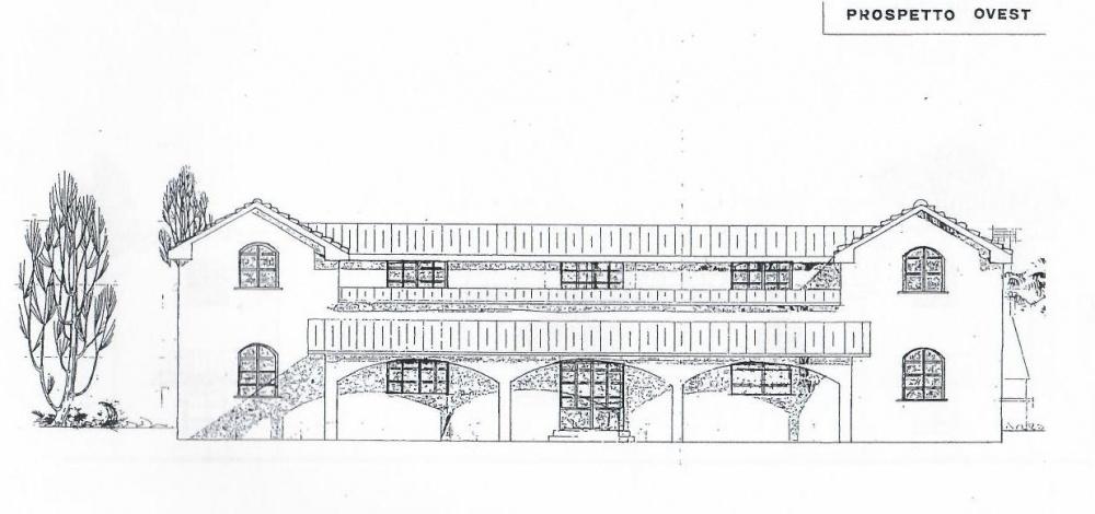 prospetto facciata Villa libera su quattro lati con Parco Privato e vista Mare in vendita a Valle Benedetta